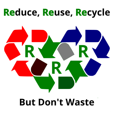 Recycle Refuse Reuse,Repair But Don't Waste